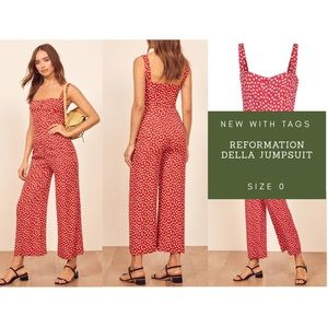 Reformation Della Floral Jumpsuit - New with Tags